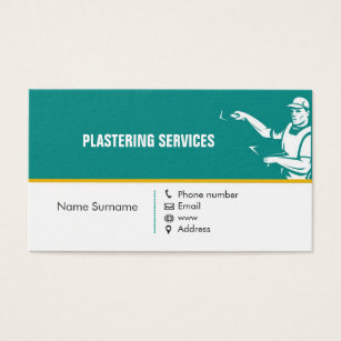 Textured plaster business cards templates zazzle plastering service business card accmission Images