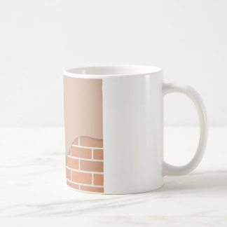 Plastering wall coffee mug