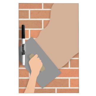 Plastering wall dry erase board
