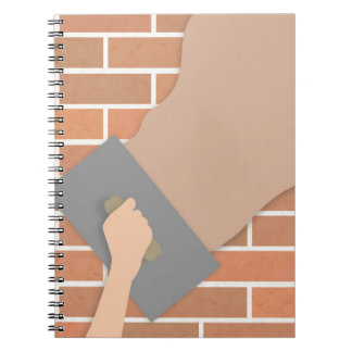 Plastering wall notebook