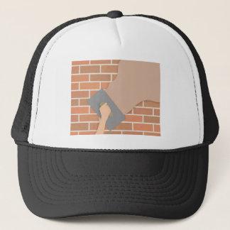 Plastering wall trucker hat
