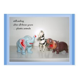 Plastic Animals ACEO Haiku Art Trading Card ------ Business Card