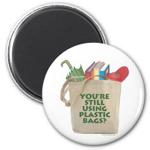 Plastic Bags Fridge Magnets