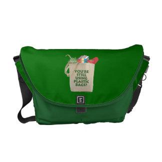 Plastic Bags Messenger Bag