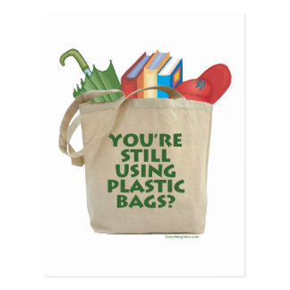 Plastic Bags Postcard