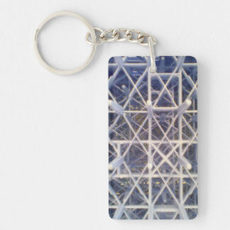 plastic basket acrylic keychains