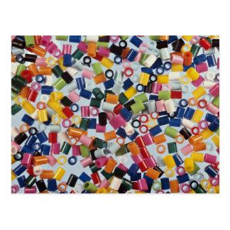 Plastic beads postcard
