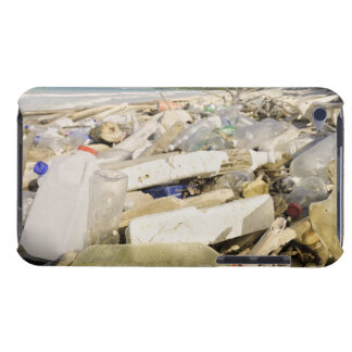 Plastic bottles and ocean dumping on a tropical barely there iPod cases