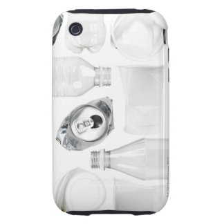 Plastic bottles, cups and alluminum cans shot on tough iPhone 3 covers