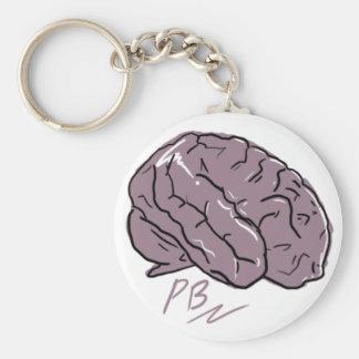 Plastic Brain Logo Keychain
