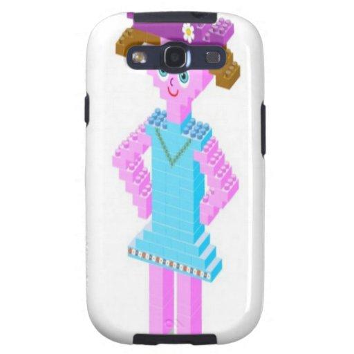 Plastic brick girl design galaxy s3 cover