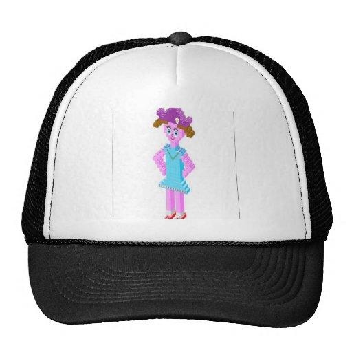 Plastic brick girl design hat