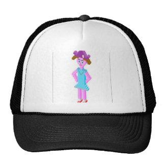 Plastic brick girl design trucker hat
