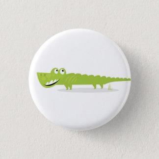 Plastic button with Crocodile