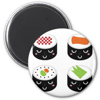 Plastic button with SUSHI Magnet