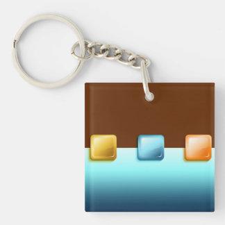 Plastic Buttons Acrylic Key Chain