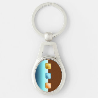 Plastic Buttons Key Chains