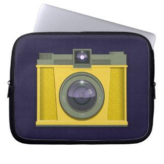 Plastic Camera Laptop Case (purple background)