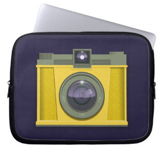 Plastic Camera Laptop Case (purple background) Laptop Sleeves
