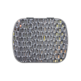 plastic chains abstract image candy tin