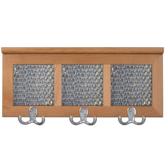 plastic chains abstract image coat rack