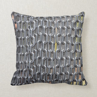 plastic chains abstract image throw pillow