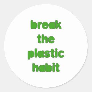 Plastic Classic Round Sticker
