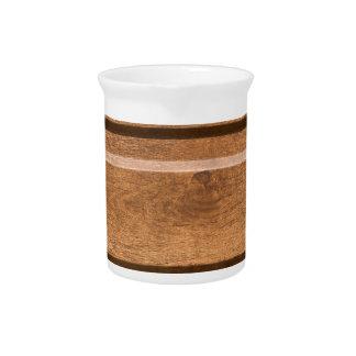 Plastic coating that mimics the natural wood beverage pitcher