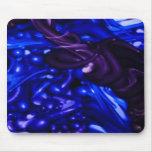 plastic color, deep blue mousepad