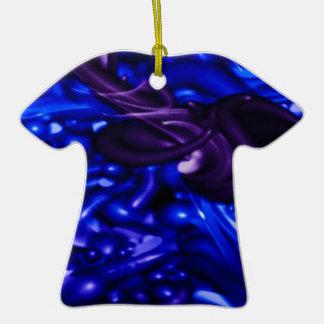 plastic color, deep blue ornaments