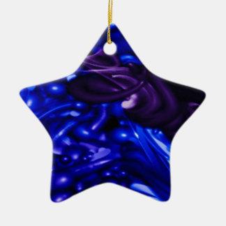plastic color, deep blue ornament