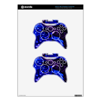 plastic color, deep blue xbox 360 controller decal