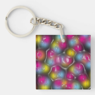 Plastic Color Single-Sided Square Acrylic Keychain