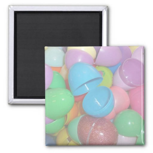 plastic colourful easter eggs pastel background 2 inch square magnet