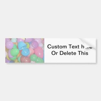 plastic colourful easter eggs pastel background bumper sticker