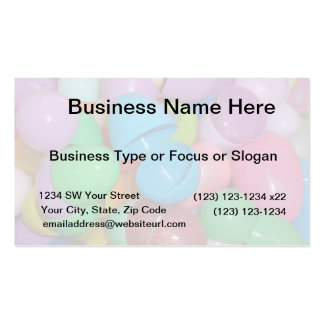 plastic colourful easter eggs pastel background business card