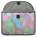 plastic colourful easter eggs pastel background MacBook pro sleeve