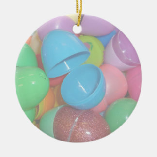 plastic colourful easter eggs pastel background christmas ornaments