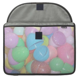 plastic colourful easter eggs pastel background sleeves for MacBook pro