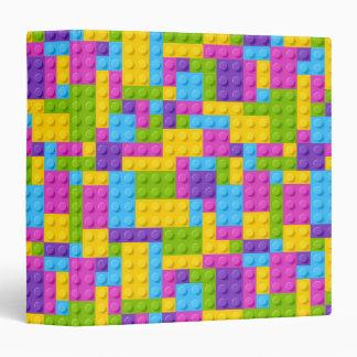 Plastic Construction Blocks Pattern 3 Ring Binders