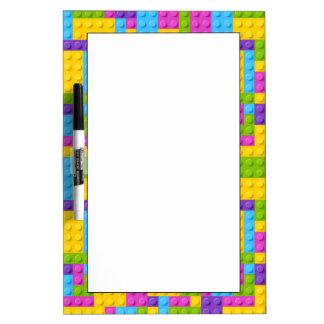Plastic Construction Blocks Pattern Dry-Erase Board