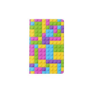 Plastic Construction Blocks Pattern Pocket Moleskine Notebook