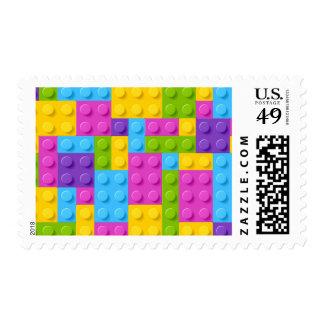 Plastic Construction Blocks Pattern Postage