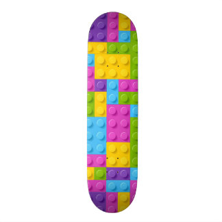Plastic Construction Blocks Pattern Skateboard
