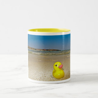 Plastic Duck at the Beach Mug