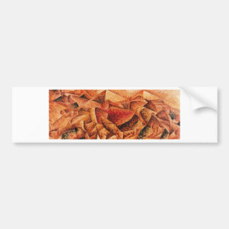 Plastic Dynamism: Horse+House by Umberto Boccioni Car Bumper Sticker