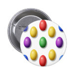 Plastic Easter Eggs 2 Inch Round Button
