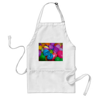 Plastic Easter Eggs Blue One Open Photograph Adult Apron
