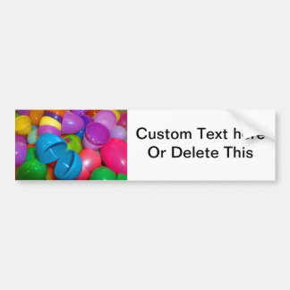 Plastic Easter Eggs Blue One Open Photograph Bumper Sticker