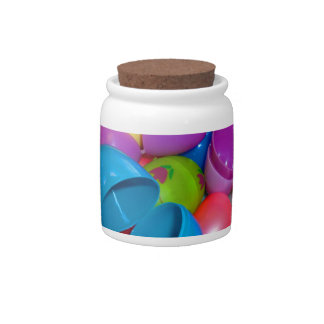 Plastic Easter Eggs Blue One Open Photograph Candy Jar